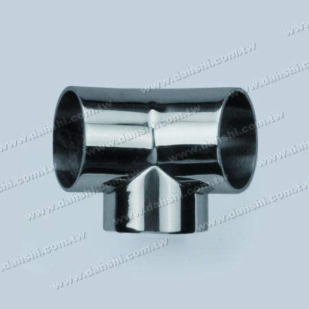 S.S. Round Tube External 135° 3 Way Out Conn. - Stainless Steel Round Tube External 135degree 3 Way Out Connector