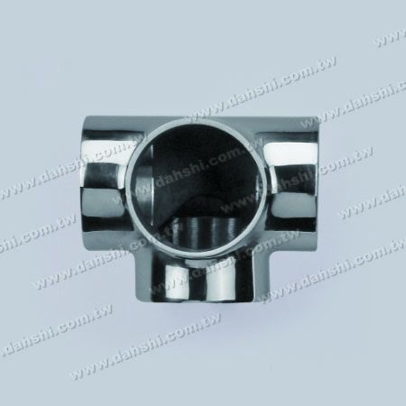 S.S. Round Tube External 90° T Connector 4 Way Out - Stainless Steel Round Tube External 90degree T Connector 4 Way Out