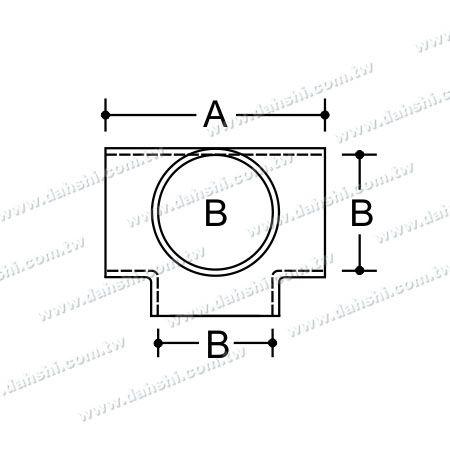 البعد: الفولاذ المقاوم للصدأ جولة أنبوب خارجي 90 درجة T موصل 4 مخرج