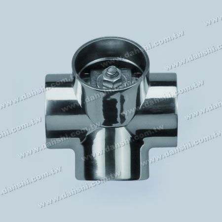S.S. Round Tube External 135° Connector 4 Way Out - Stainless Steel Round Tube External 135degree Connector 4 Way Out
