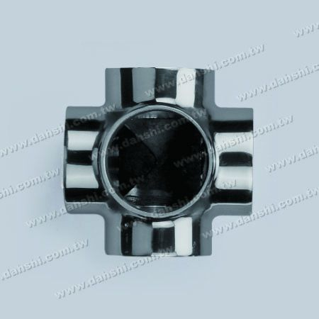 S.S. Round Tube External Connector 5 Way Out - Stainless Steel Round Tube External Connector 5 Way Out