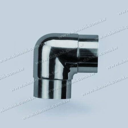 Круглая труба из нержавеющей стали с внутренним углом 90 градусов