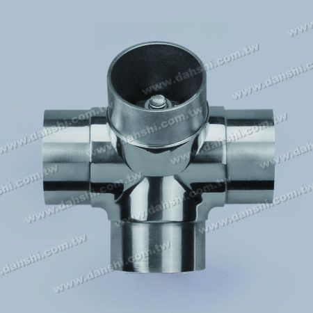 S.S. Round Tube Internal 135° Connector 4 Way Out - Stainless Steel Round Tube Internal 135degree Connector 4 Way Out