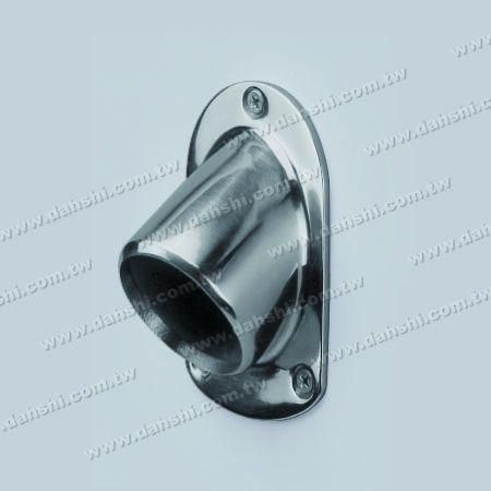 S.S. Round Tube Oval Shape Angle Fix 122°~138° Base - Stainless Steel Round Tube Oval Shape Angle Fix 122°~138° Base Plate