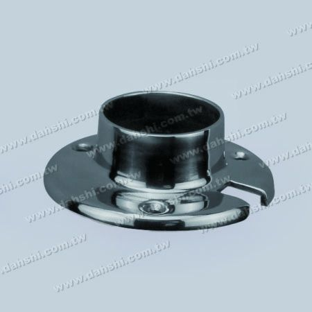 S.S. Round Tube Round Base Plate Glass Wall Use - Stainless Steel Round Tube Round Base Plate Glass Wall Use