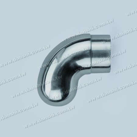 S.S. Round Tube 90° Elbow Handrail End Dome Top - Stainless Steel Round Tube 90degree Elbow Handrail End Dome Top