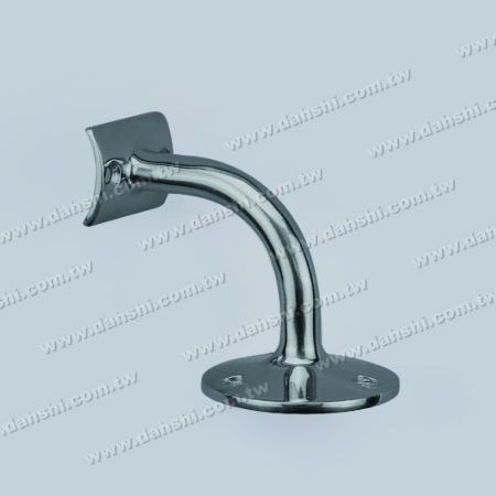 Round Tube Handrail Wall Bracket - Screw Exposed Bracket - Stainless Steel Round Tube Handrail Wall Bracket - Angle Fixed (SS:2028A)