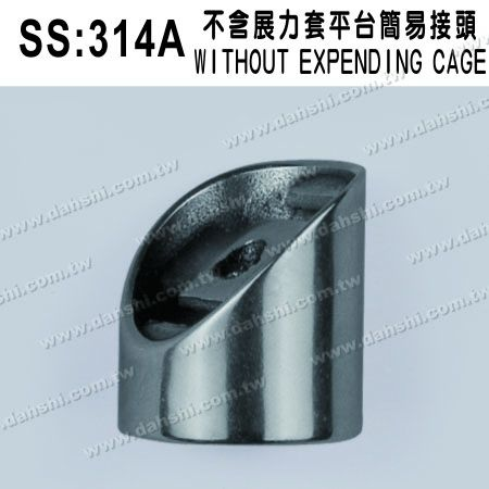 S.S. Round Tube Perp. Post 127° Conn. External Cap - Stainless Steel Round Tube Handrail Perpendicular Post Connector 127deg External Cap