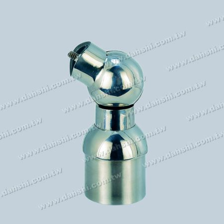 S.S. Round Tube Handrail Perp. Post Adj. Conn. Support - Stainless Steel Round Tube Handrail Perpendicular Post Adjustable Connector Support