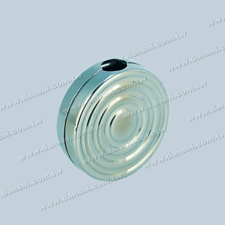 12mm Round Tube Accessory Concentric Circles Decorative Clamp - 12mm Round Tube Accessory Concentric Circles Decorative Clamp  ( SS:330)