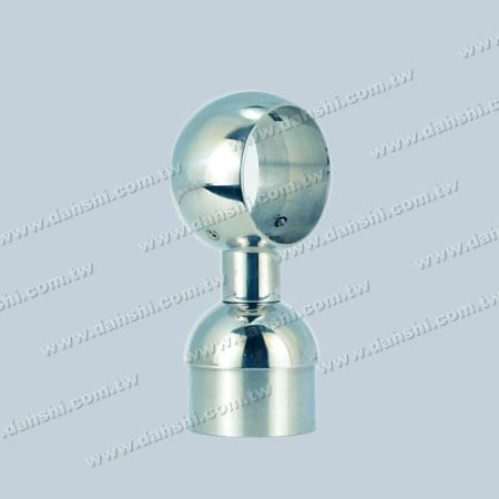 S.S. Round Tube Handrail Perp. Post Connector Through Ring - Stainless Steel Round Tube Handrail Perpendicular Post Connector Through Ring