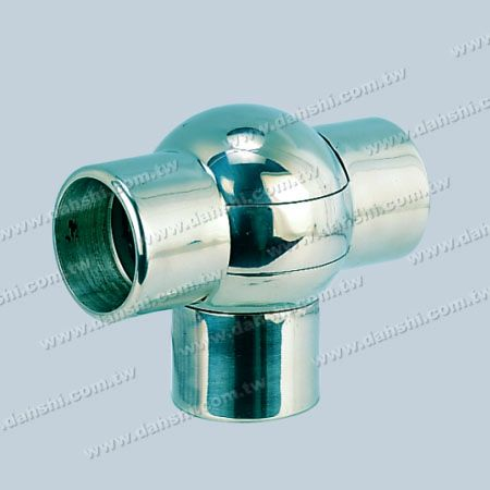 Stainless Steel Round Tube External T Connector Ball Angle Adjustable - Stainless Steel Round Tube External T Connector Ball Angle Adjustable