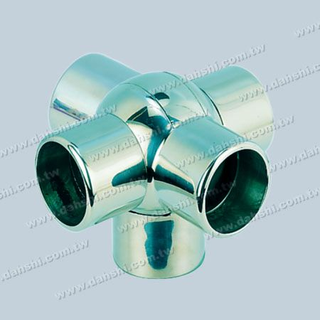S.S. Round Tube External Ball Conn. 5 Way Out Angle Adj. - Stainless Steel Round Tube External Ball Connector 5 Way Out Angle Adjustable