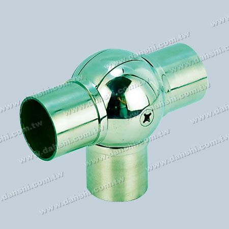 S.S. Round Tube Internal T Connector Ball Angle Adju. - Stainless Steel Round Tube Internal T Connector Ball Angle Adjustable