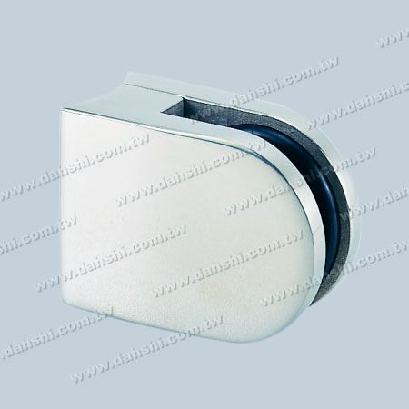 S.S. Glass Clamp D Shape - Stainless Steel Glass Clamp D Shape - No Need to Drill Hole on Glass