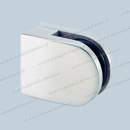 S.S. Glass Clamp D Shape - Stainless Steel Glass Clamp D Shape - With Center Pin for Drill Hole on Glass