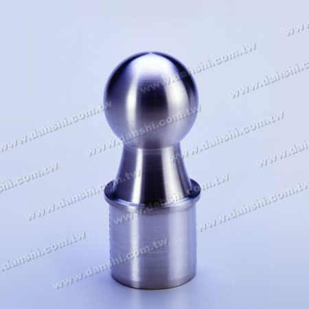 Stainless Steel Round Tube Ball Type End Cap - Ball Size 42.4mm - Stainless Steel Round Tube Ball Type End Cap - Ball Size 42.4mm