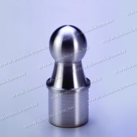 Stainless Steel Round Tube Ball Type End Cap - Ball Size 36mm - Stainless Steel Round Tube Ball Type End Cap - Ball Size 36mm
