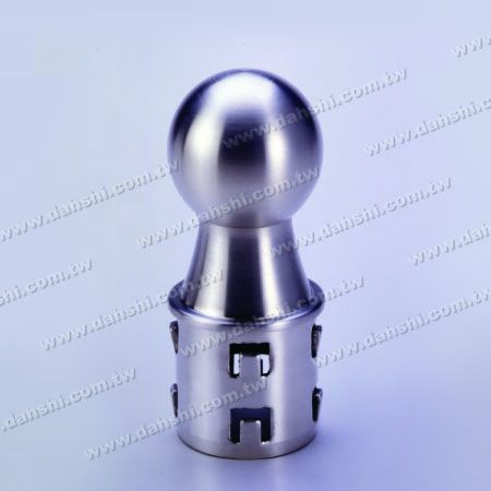 S.S. Round Tube Ball Type End Cap - Stainless Steel Round Tube Ball Type End Cap with Exit Spring Design - Ball Size 42.4mm