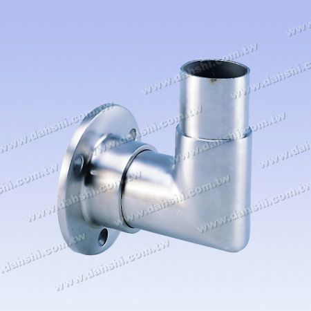Stainless Steel Round Tube Handrail Support Against Wall - 90degree L Shape Elbow