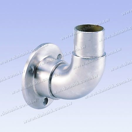 Handrail Support Against Wall - 90° Elbow - Stainless Steel Round Tube Handrail Support Against Wall - 90degree Elbow