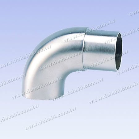 S.S. Round Tube 90° Elbow Handrail End Flat Top