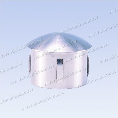 S.S. Round Tube Curve Top End Cap - Stainless Steel Round Tube Curve Top End Cap with Exit Spring Design - Apply for All Thickness of Round Tube
