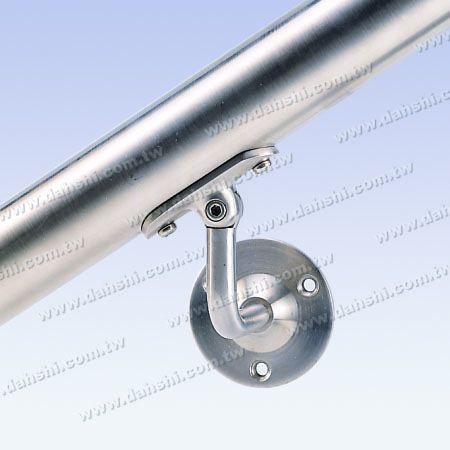 Regolabile - Staffa a vite a vista - Staffa a muro per tubo corrimano in tubo tondo in acciaio inossidabile - Regolabile in inclinazione