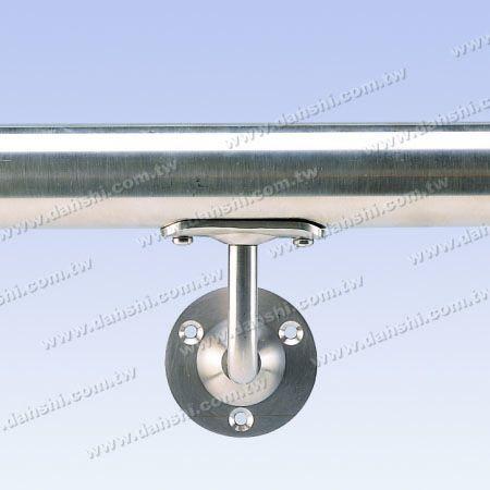 Fisso - Staffa a vite a vista - Staffa a parete tubo corrimano in tubo tondo in acciaio inox - Angolo fisso