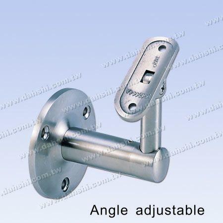S.S. Round Tube Handrail Wall Bracket - Stainless Steel Round Tube Handrail Wall Bracket - Angle Adjustable