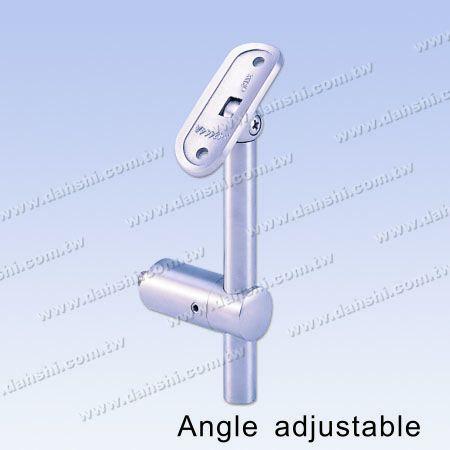 S.S.Round Tube Handrail Wall Bracket Adj. Height - Stainless Steel Round Tube Handrail Wall Bracket Adjustable Height - Angle Adjustable