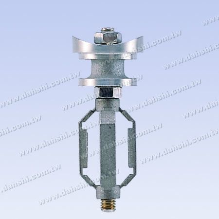 S.S. Round Tube Perp. Post Conn. Ext. Cap Expending Cage - Stainless Steel Round Tube Handrail Perpendicular Post Connector External Cap Expending Cage
