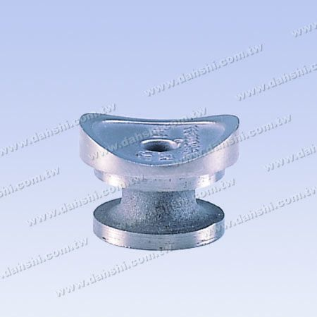 S.S. Round Tube Perp. Post Connector External Cap - Stainless Steel Round Tube Handrail Perpendicular Post Connector Through Ring