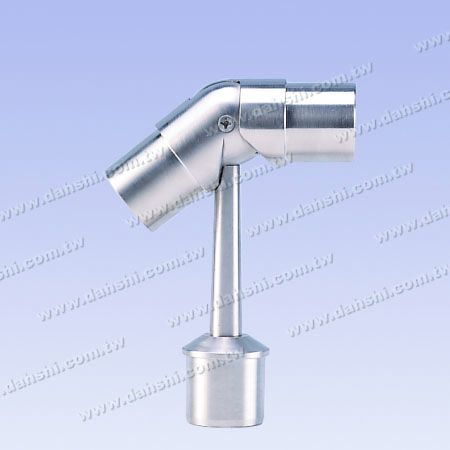 S.S. Round Tube Perp. Post Adj. Conn. Support Pipe Type - Stainless Steel Round Tube Handrail Perpendicular Post Adjustable Connector Support Pipe Type External Fit