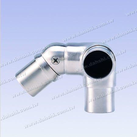 Нержавеющая сталь Круглая труба Внутренний угол Угловой соединитель Шаровой шарнир 3 Выход Прямоугольный Регулируемый