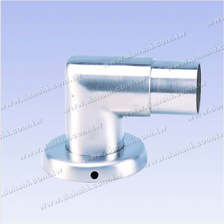 Stainless Steel Round Tube Handrail Support 90degree L Shape Elbow with Cover - Screw Invisible
