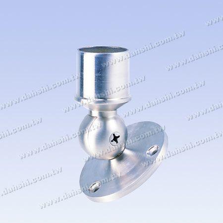 S.S. Handrail Support Angle Adj. Internal - Stainless Steel Round Tube Handrail Support Angle Adjustable Internal - Screw Expose