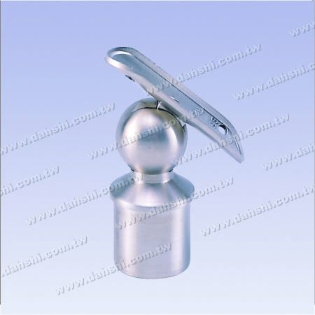 S.S. Round Tube Perp. Post Adj. Conn. Support Radiused Int. - Stainless Steel Round Tube Handrail Perpendicular Post Adjustable Connector Support Radiused Internal Fit