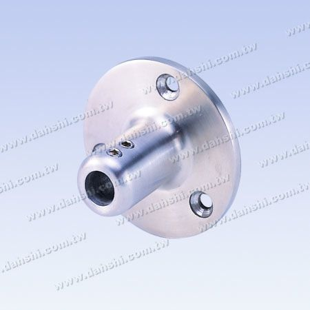S.S. Round Tube External Insert End Angle Fix - Stainless Steel Round Tube Handrail External Insert End Angle Fix - Screw Expose