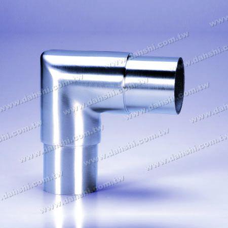 Stainless Steel Round Tube Internal 90degree Extea Length Elbow Square Corner