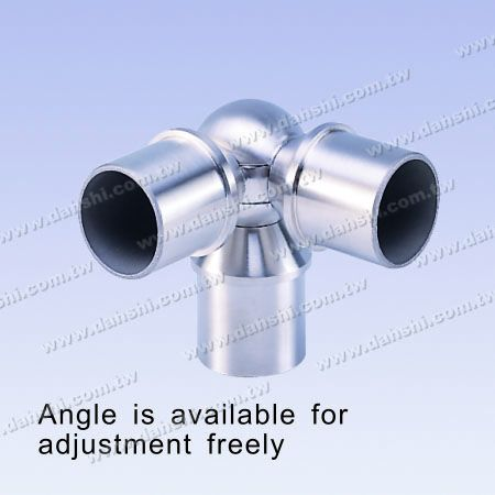 S.S. Round Tube Internal Ball Connector 90° T Angle Adj. - Stainless Steel Round Tube Internal Ball Connector 90dgree T Angle Adjustable