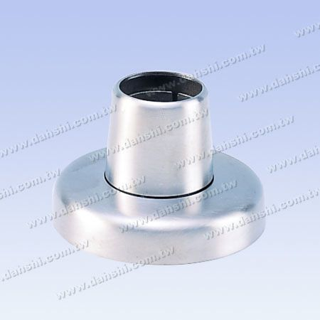 Stainless Steel Round Tube Handrail 3 Pieces Round Base - Screw Invisible - Satin Finish