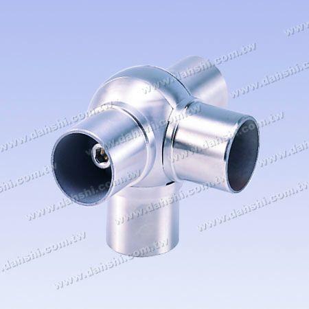 不銹鋼圓管套外活動四通彎頭 - 圓型 - 不銹鋼圓管套外活動四通彎頭 - 圓型