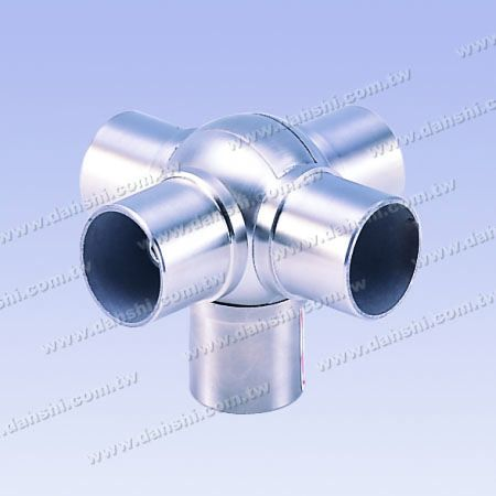 S.S. Round Tube Internal Ball Conn. 5 Way Out Angle Adj. - Stainless Steel Round Tube Internal Ball Connector 5 Way Out Angle Adjustable