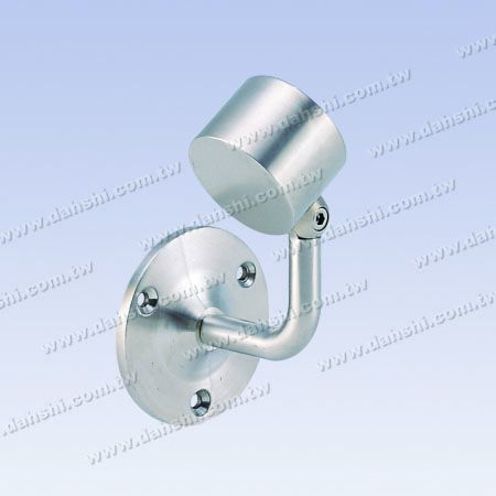 Screw Exposed Bracket - Internal Round Tube Handrail Wall Bracket End (Left Hand Side) - Angle Adjustable - Screw Exposed Bracket - Internal Round Tube Handrail Wall Bracket End (Left Hand Side) - Angle Adjustable
