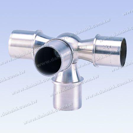 不銹鋼圓管套外90度四通彎頭 - 球型 - 不銹鋼圓管套外90度四通彎頭 - 球型