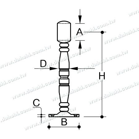 Dimension: Stainless Steel Footrest for Bar (SS:424138A)