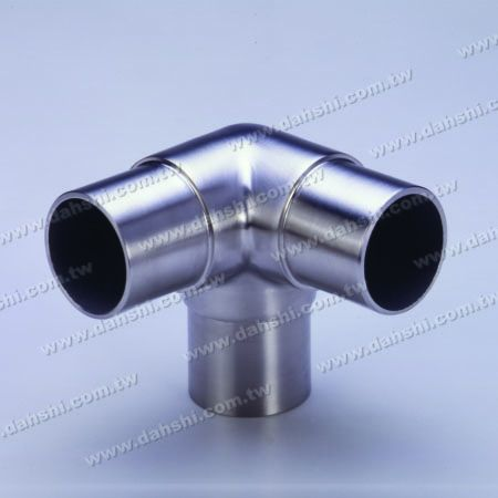 SS Round Tube Internal 90 ° T Connector - Stainless Steel Tabung Bulat Konektor T 90 derajat Internal