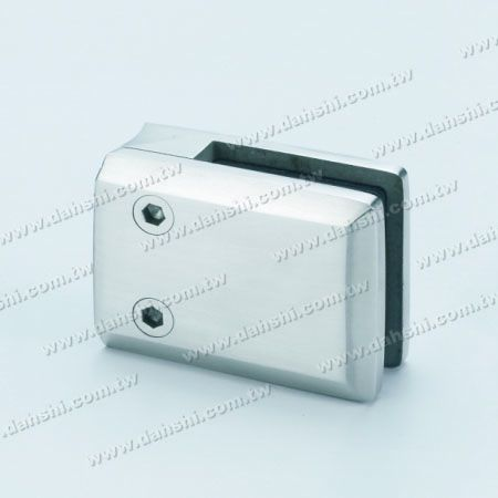 S.S. Glass Clamp Square Shape - Stainless Steel Glass Clamp Square Shape - No Need to Drill Hole on Glass