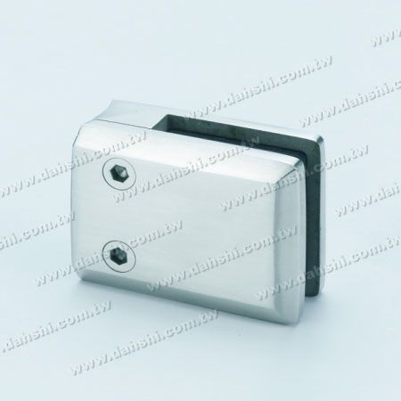 S.S. Glass Clamp Square Shape - Stainless Steel Glass Clamp Square Shape - With Center Pin for Drill Hole on Glass
